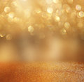 Bokeh lights background with mixed brown and yellow warm earthly colors Royalty Free Stock Photo