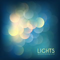 Bokeh lights vintage background colorful abstract dark Stock Images
