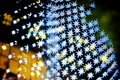 Bokeh series - blue stars Stock Photo