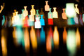 Bokeh series - bottles Royalty Free Stock Photography