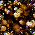 Bokeh, stars and bubbles Royalty Free Stock Photography
