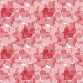 Bokeh style heart seamless pattern. Collection of love symbols with pink, red and cherry pattern colors. Vector abstract