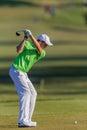 Bola da caixa de junior driving swing t do jogador de golfe Imagem de Stock