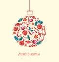 Bola de la navidad con los caramelos Foto de archivo libre de regalías