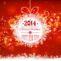 Bola de la navidad en un fondo rojo Fotos de archivo