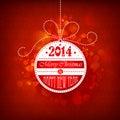 Bola de la navidad en un fondo rojo Imagenes de archivo