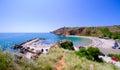 Bolata beach Bulgaria. Famous bay near Cape Kaliakra Royalty Free Stock Photo