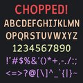 Bold decorative chopped polygonal comic vector font