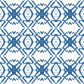 Bold geometric ornament in blue Stock Photo
