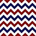 Red, White, and Blue Chevron Seamless Pattern