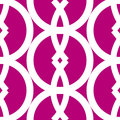 Bold graphic seamless pattern made white cicle arch geometrical shapes over dark pink great fabric backgrounds likes Stock Images