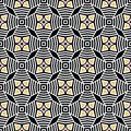 Bold hand drawn star flower quilt. Vector pattern seamless background. Symmetry geometric abstract illustration. Trendy retro