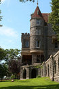 Boldt castle from the grounds and corner t Stock Photo