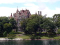 Boldt castle on ontario lake canada by beautiful cloudy day Stock Images