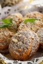Bolinhos Nuts Fotos de Stock