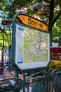 Bolivar Metro Station in Paris, France Royalty Free Stock Photo