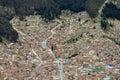Bolivian capital La Paz Royalty Free Stock Photo