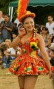 Bolivian Morenada Dancer at Carnaval del Pueblo Royalty Free Stock Image