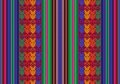 Bolivian seamless pattern vector in traditional style of indigenous peoples Stock Image