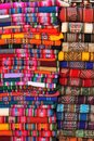 Bolivian traditional fabrics Royalty Free Stock Image