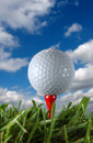 Bollen clouds golf Arkivfoton