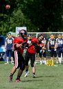Bollen passes quarterbacken Royaltyfri Foto