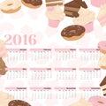 Bolo do calendário do ano Fotografia de Stock Royalty Free