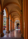 Bologna arcades street passage the city of in northern italy has numerous typical along the majority of it s streets allowing for Royalty Free Stock Images
