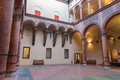 Bologna atrium of museo civico medievale medieval museum Royalty Free Stock Photo
