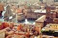 Bologna city view, Italy Royalty Free Stock Photo