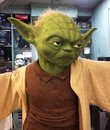 Reproduction in original scales of Yoda from the Star Wars movie saga Royalty Free Stock Photo
