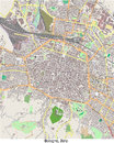 Bologna italy europe hi res aerial view of in Stock Photo