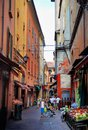 Bologna, Italy - July 08, 2013: Alley way in Italy