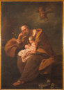 Bologna italy march the paint of st joseph in baroque church santa maria della vita by unknown painter Royalty Free Stock Image