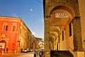Bologna s downtown passage way italy december night view of in total there are about kilometres of arcades in the city Royalty Free Stock Photo