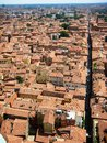 Bologna view roofs of italy Royalty Free Stock Image