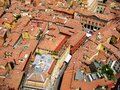 Bologna view roofs of italy Royalty Free Stock Photos