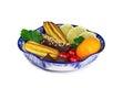 Bolos doces fruto em um vaso pintado ao estilo do Fotografia de Stock Royalty Free