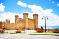 Bolsena castle and square in front of it located in lazio itally Stock Photography