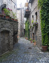 Bolsena italy viterbo lazio old typical street of the medieval town Royalty Free Stock Photo