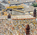 Bolsena italy viterbo lazio typical tiled roofs of the old houses Stock Photos
