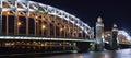 The Bolsheokhtinsky bridge in St. Petersburg Royalty Free Stock Photo