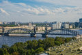 Bolsheokhtinsky Bridge. St. Petersburg Royalty Free Stock Photo