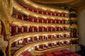 He bolshoi theatre a historic theatre of ballet and opera in moscow russia augus t the the interior auditorium by Stock Photo