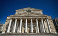 The bolshoi theatre a historic theatre in moscow russia designed by architect joseph bove which holds performances of ballet and Stock Image