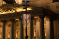 Bolshoi theatre at night moscow russia large great or grand also spelled bolshoy Royalty Free Stock Photo