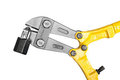 Bolt cutters on white Royalty Free Stock Photos