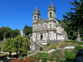 Bom jesus do monte in braga portugal facade of a portuguese sanctuary tenoes near the city of Stock Image