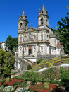 Bom jesus do monte in braga portugal facade of a portuguese sanctuary tenoes near the city of Stock Photography