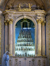 Bom jesus do monte in braga portugal interior of a portuguese sanctuary tenoes near the city of Stock Photo